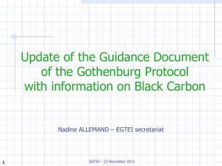 Nadine ALLEMAND – EGTEI secretariat
