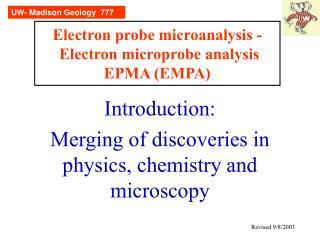 Electron probe microanalysis -  Electron microprobe analysis EPMA (EMPA)