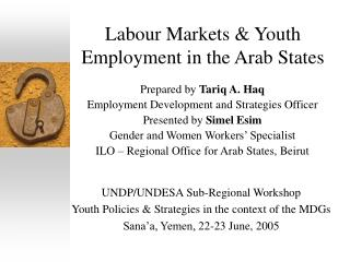 Labour Markets  Youth Employment in the Arab States