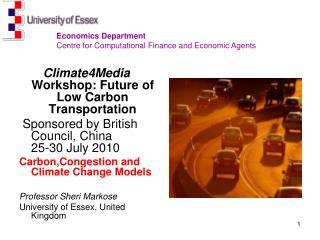 Climate4Media  Workshop: Future of Low Carbon Transportation
