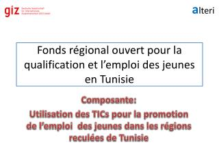 Fonds r�gional ouvert pour la qualification et l�emploi des jeunes en Tunisie