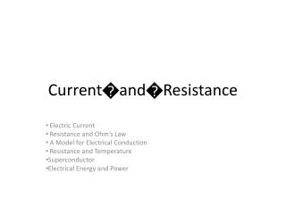 Current�and�Resistance