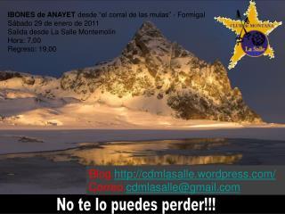 """IBONES de ANAYET  desde """"el corral de las mulas"""" - Formigal Sábado 29 de enero de 2011"""