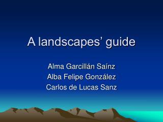 A landscapes' guide