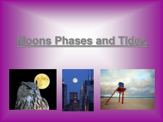Moons Phases and Tides