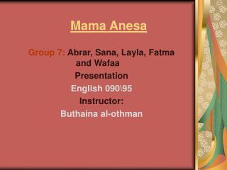 Mama Anesa