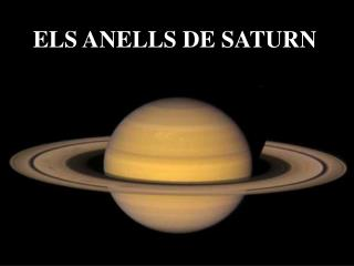 ELS ANELLS DE SATURN