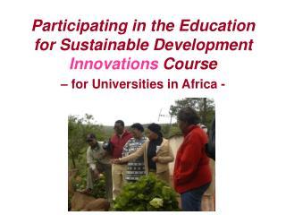 A participatory initiative …