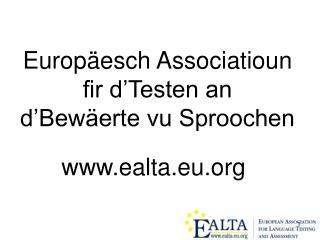 Europäesch Associatioun fir d'Testen an d'Bewäerte vu Sproochen