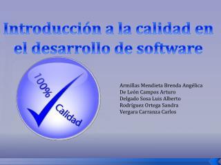 Introducción a la calidad en el desarrollo de software