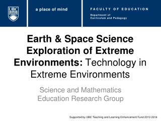 Earth & Space Science Exploration of Extreme Environments:  Technology in Extreme Environments