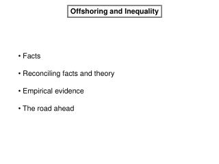 Offshoring and Inequality