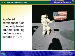 Apollo 14  commander Alan Shepard planted an American flag on the moon's surface in 1971.