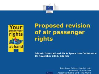 Proposed  revision of air passenger rights