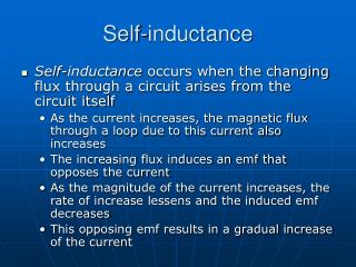 Self-inductance