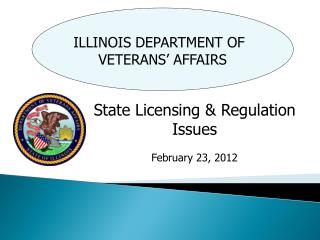 ILLINOIS  DEPARTMENT OF VETERANS�  AFFAIRS