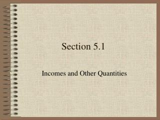 Section 5.1