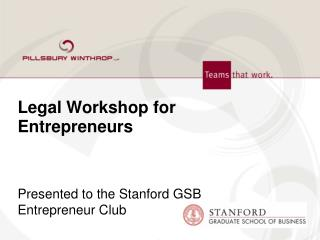 Legal Workshop for Entrepreneurs