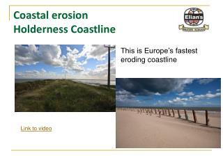 Coastal erosion Holderness Coastline