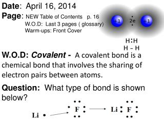 a student covalent bonding