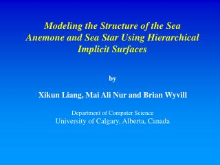 Modeling the Structure of the Sea Anemone and Sea Star Using Hierarchical Implicit Surfaces by