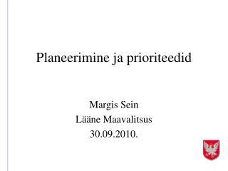 Planeerimine ja prioriteedid