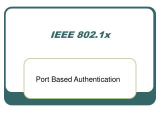 IEEE 802.1x