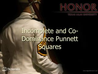 Incomplete and Co-Dominance Punnett Squares