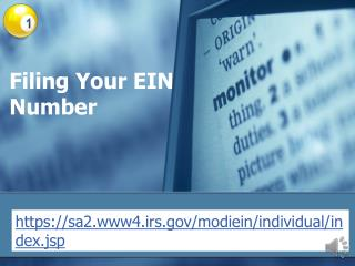 Filing Your EIN Number