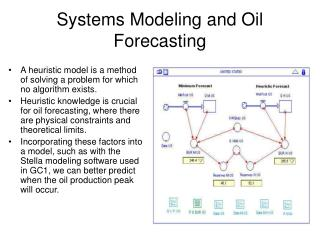 Systems Modeling and Oil Forecasting