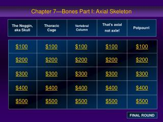Chapter 7—Bones Part I: Axial Skeleton