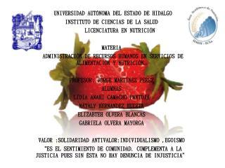UNIVERSIDAD AUTÓNOMA DEL ESTADO DE HIDALGO INSTITUTO DE CIENCIAS DE LA SALUD