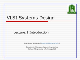 VLSI Systems Design