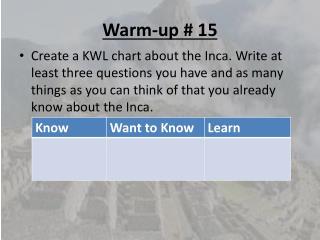 Warm-up # 15