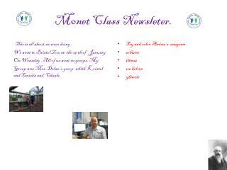 M0net Class  Newsleter .