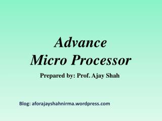 Advance Micro Processor