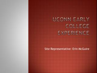 UCONN Early College Experience