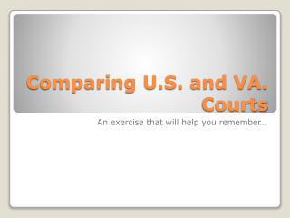 Comparing U.S. and VA. Courts