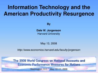 Information Technology and the American Productivity Resurgence