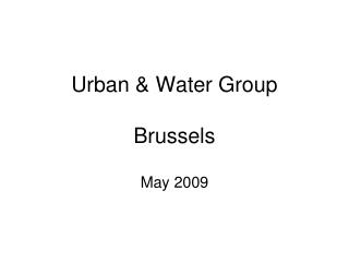 Urban & Water Group Brussels