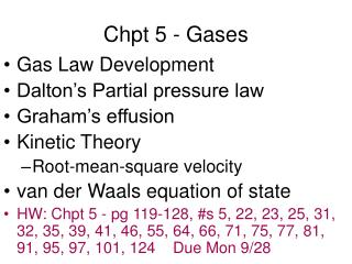 Chpt 5 - Gases