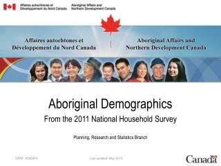 Aboriginal Demographics From the 2011 National Household Survey