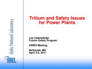 Tritium and Safety Issues for Power Plants