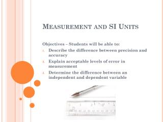 Measurement and SI Units