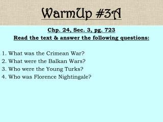 WarmUp #3A