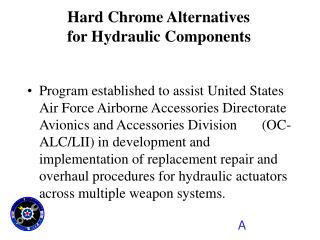 Program established to assist United States Air Force Airborne Accessories Directorate Avionics and Accessories Division