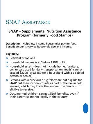 SNAP  Assistance