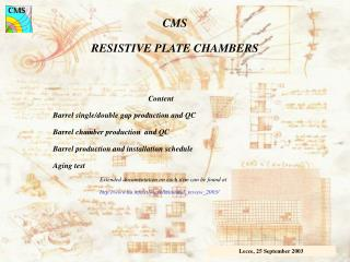 CMS RESISTIVE PLATE CHAMBERS