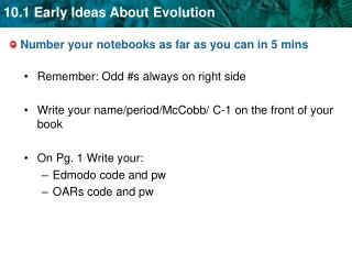 Number your notebooks as far as you can in 5 mins