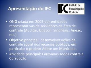 Apresentação do IFC